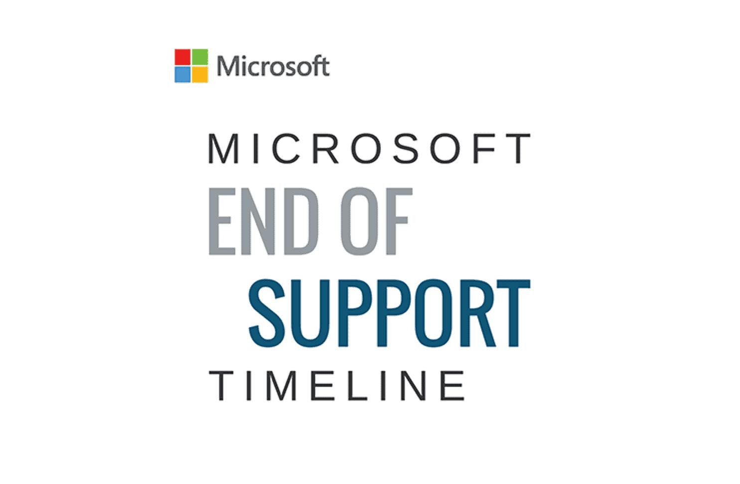 Microsoft: cambiano le date di End of support