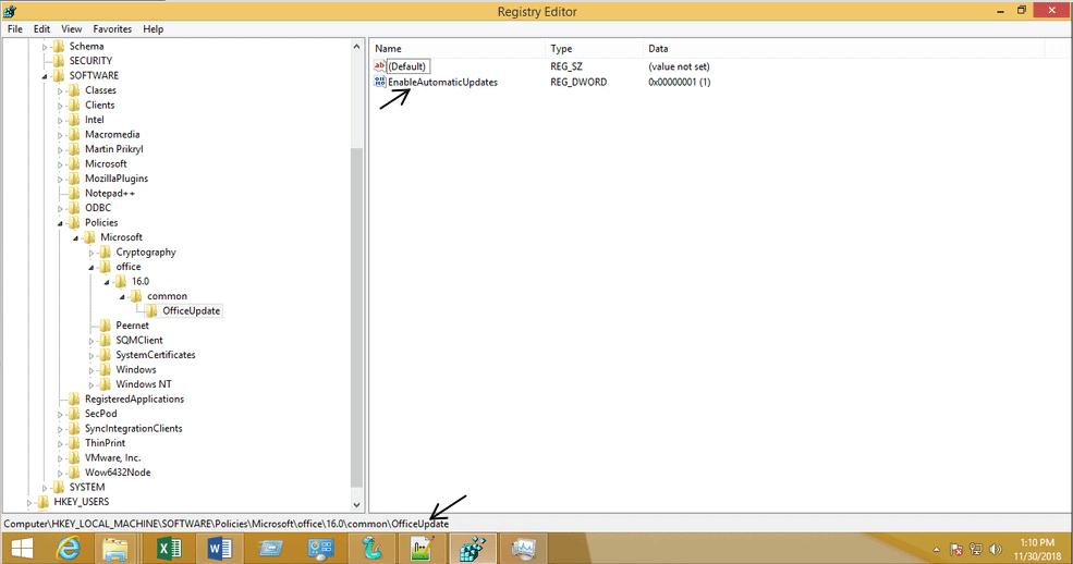 Disattivare aggiornamenti automatici Office - Formazione informatica, Consulenza IT - Nexsys