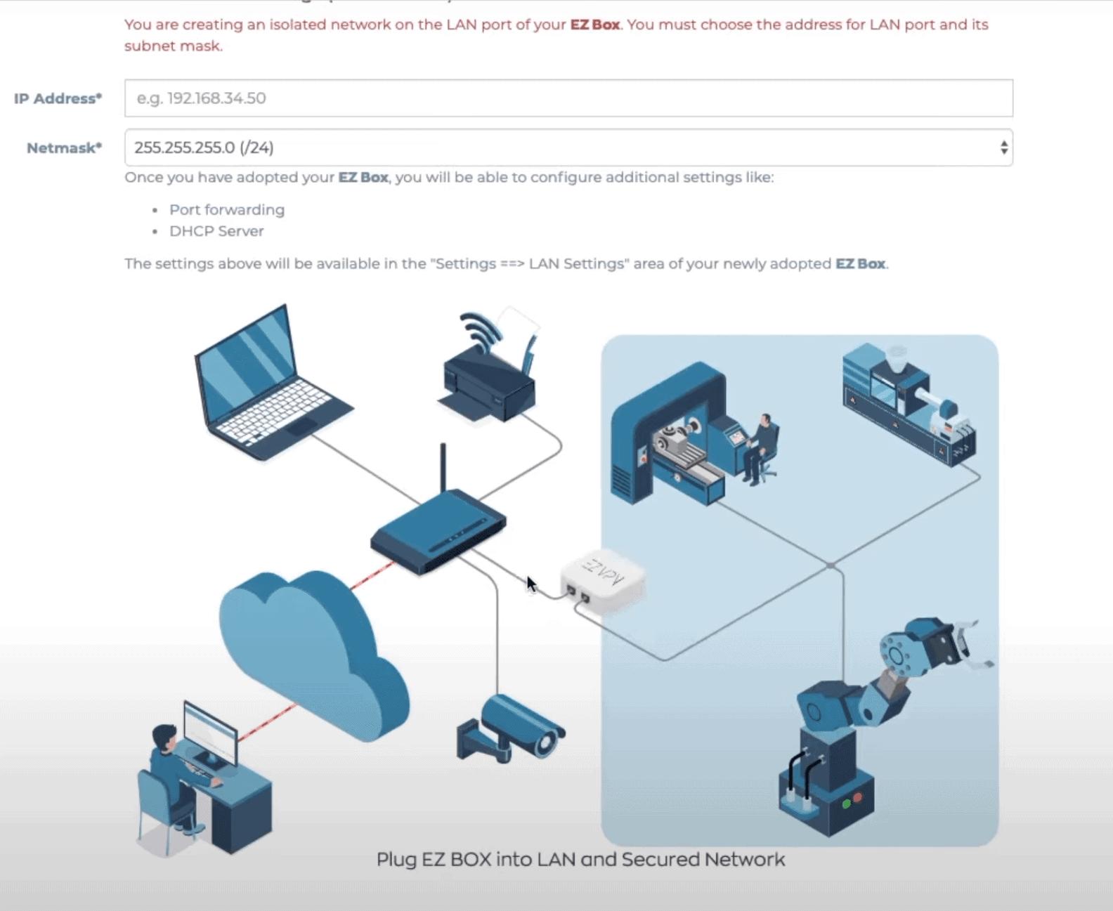 Router mode EZ Box configuration step 3