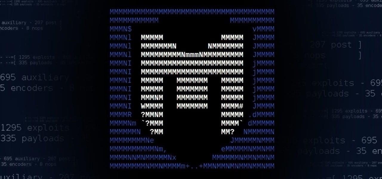 Logo Metasploit blue and black