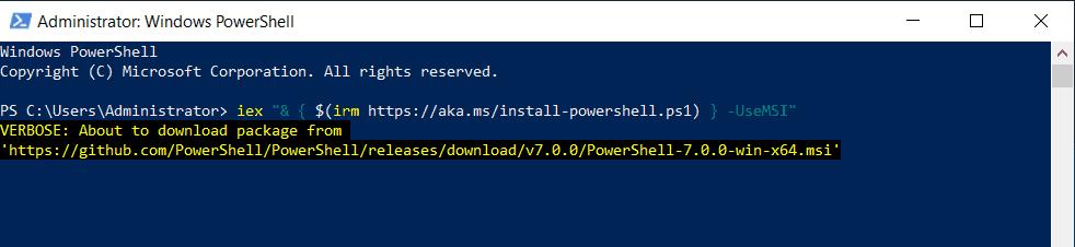 powershell downloading