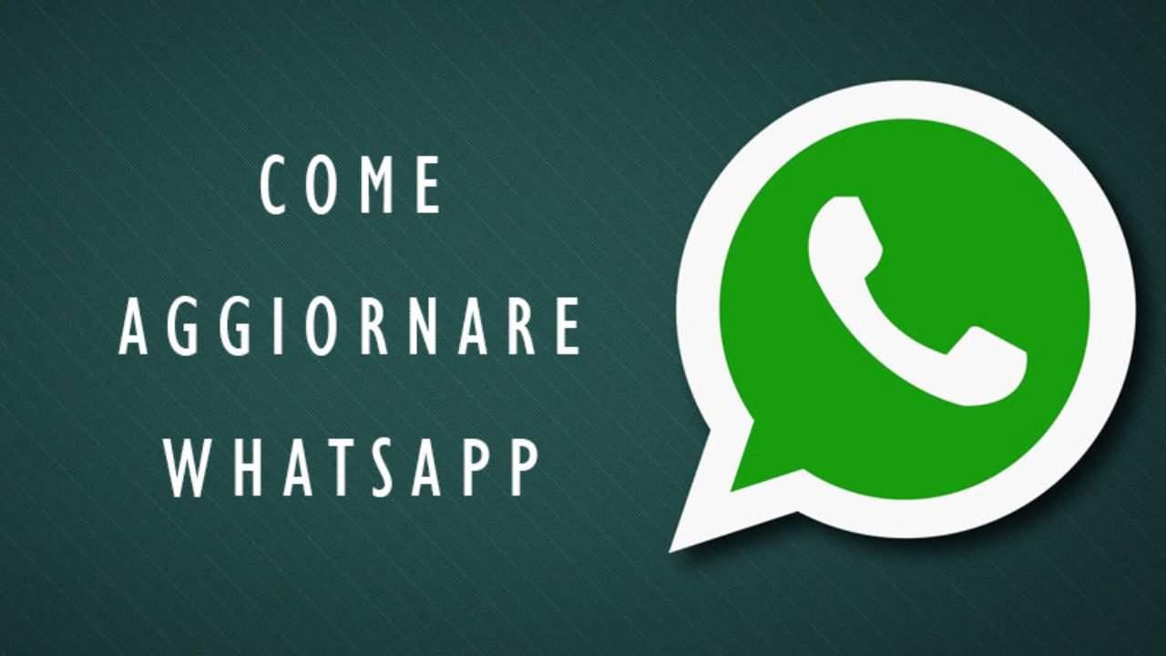 schermata come aggiornare whatsapp