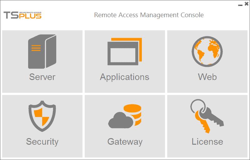 console di accesso remoto TSplus