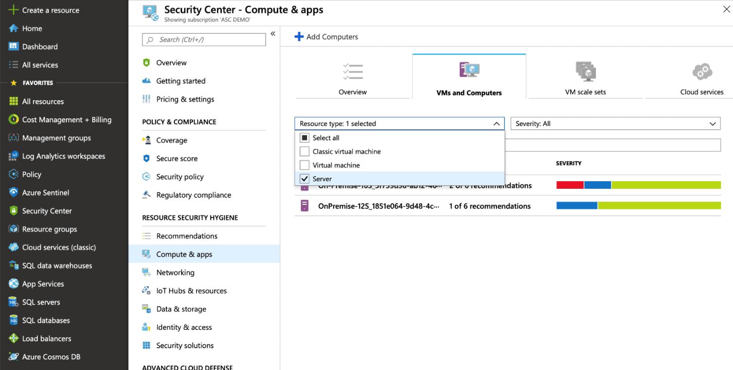 page reccomendations Windows Admin Center