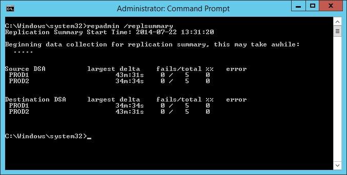 repadmin - tool per il check della replica active directory