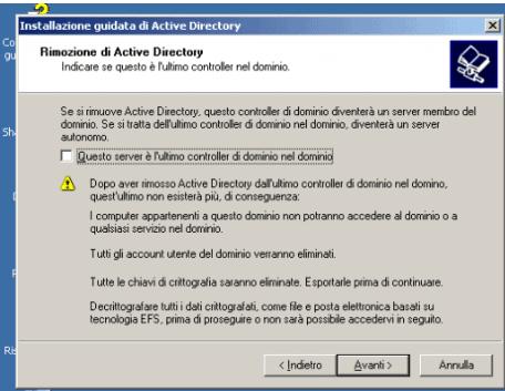 demotion windows 2003 server