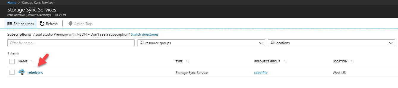 storage sync service