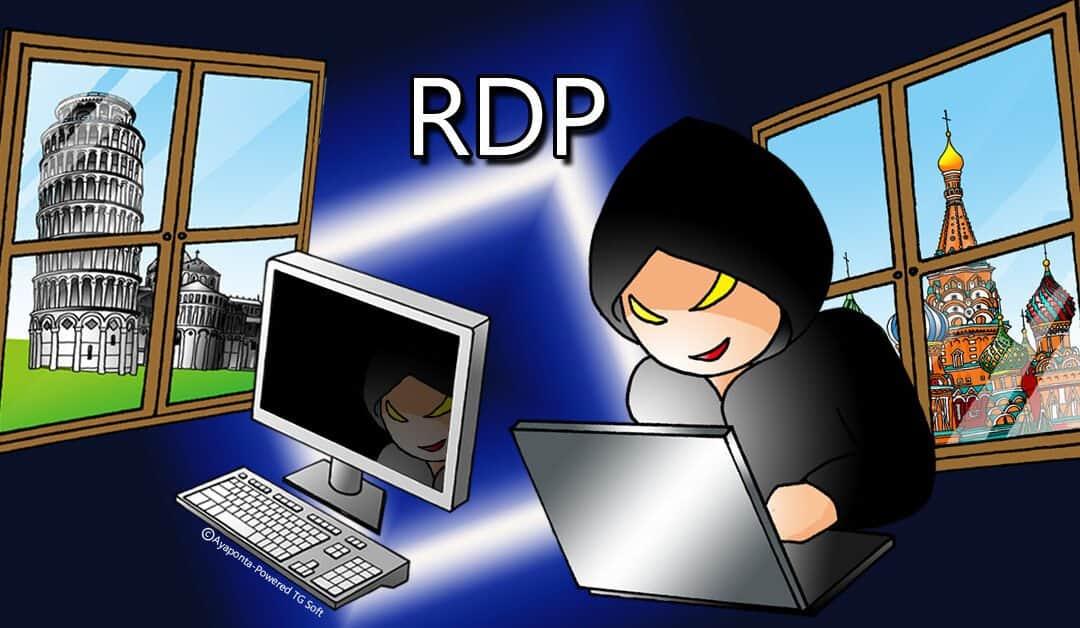attacco ransomware tramite rdp