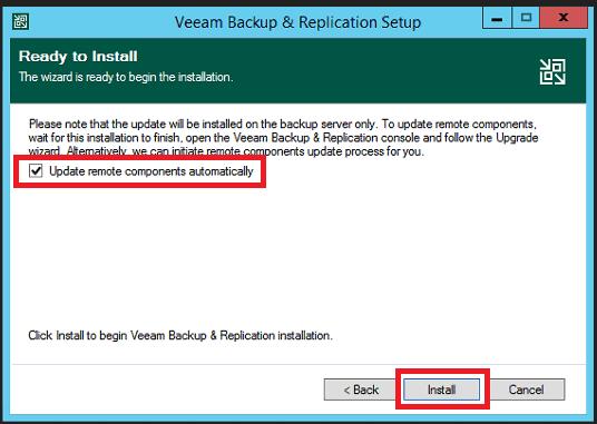 veeam backup upgrade