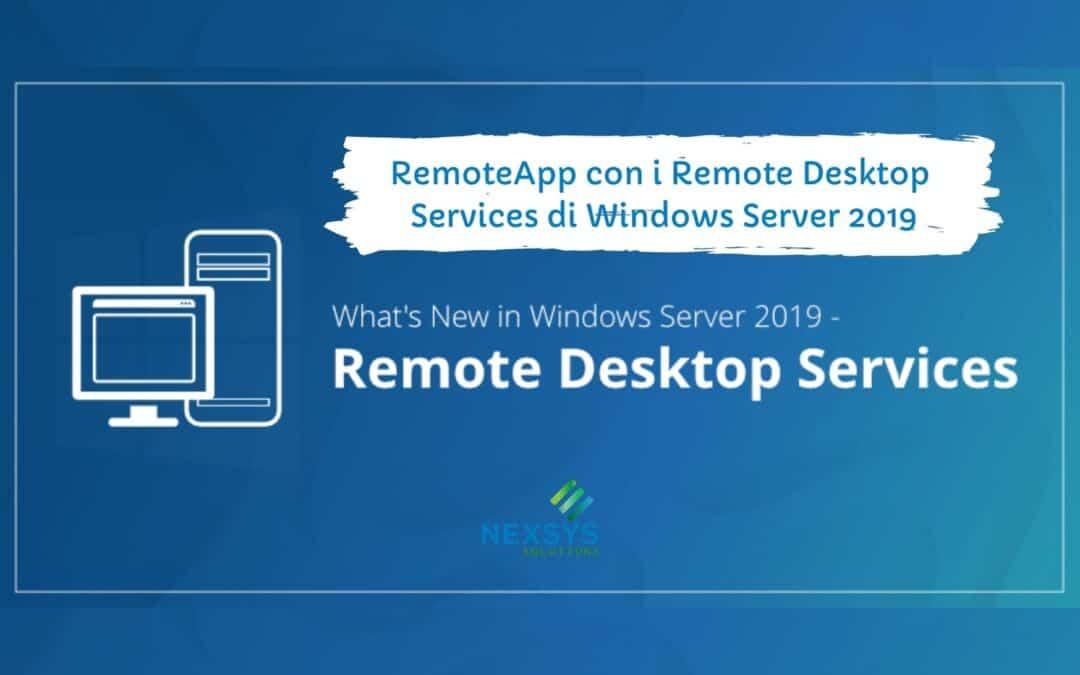 RemoteApp con i Remote Desktop Services di Windows Server 2019
