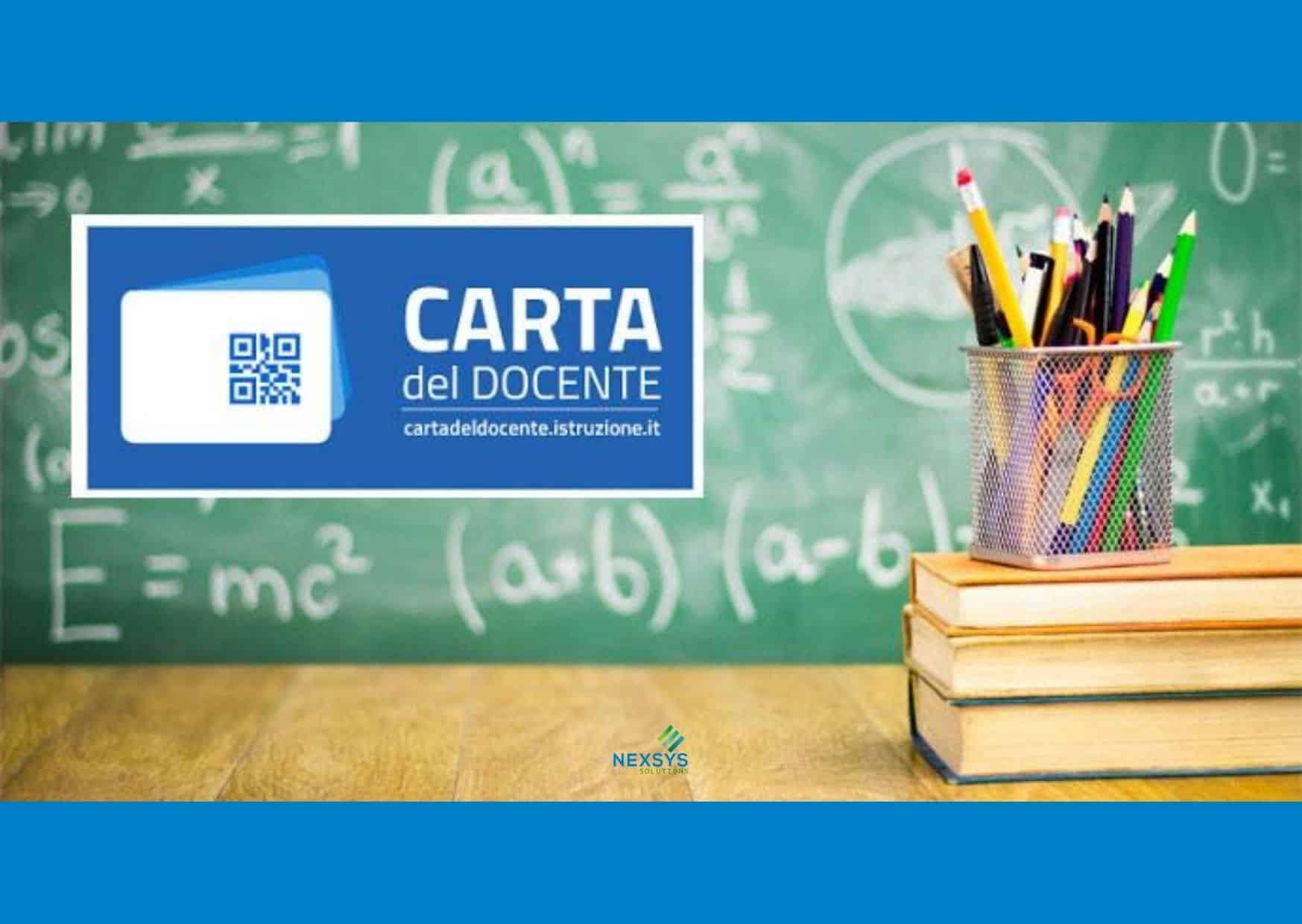 Carta del docente: aggiornamenti al 31 Agosto