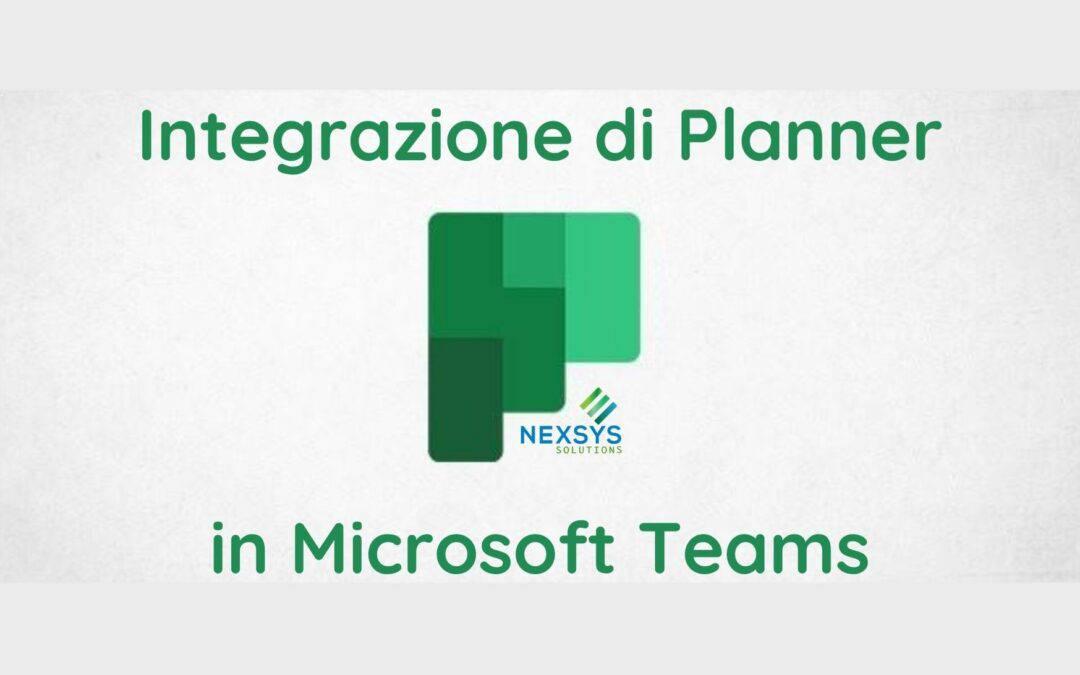 Integrazione di Planner in Microsoft Teams