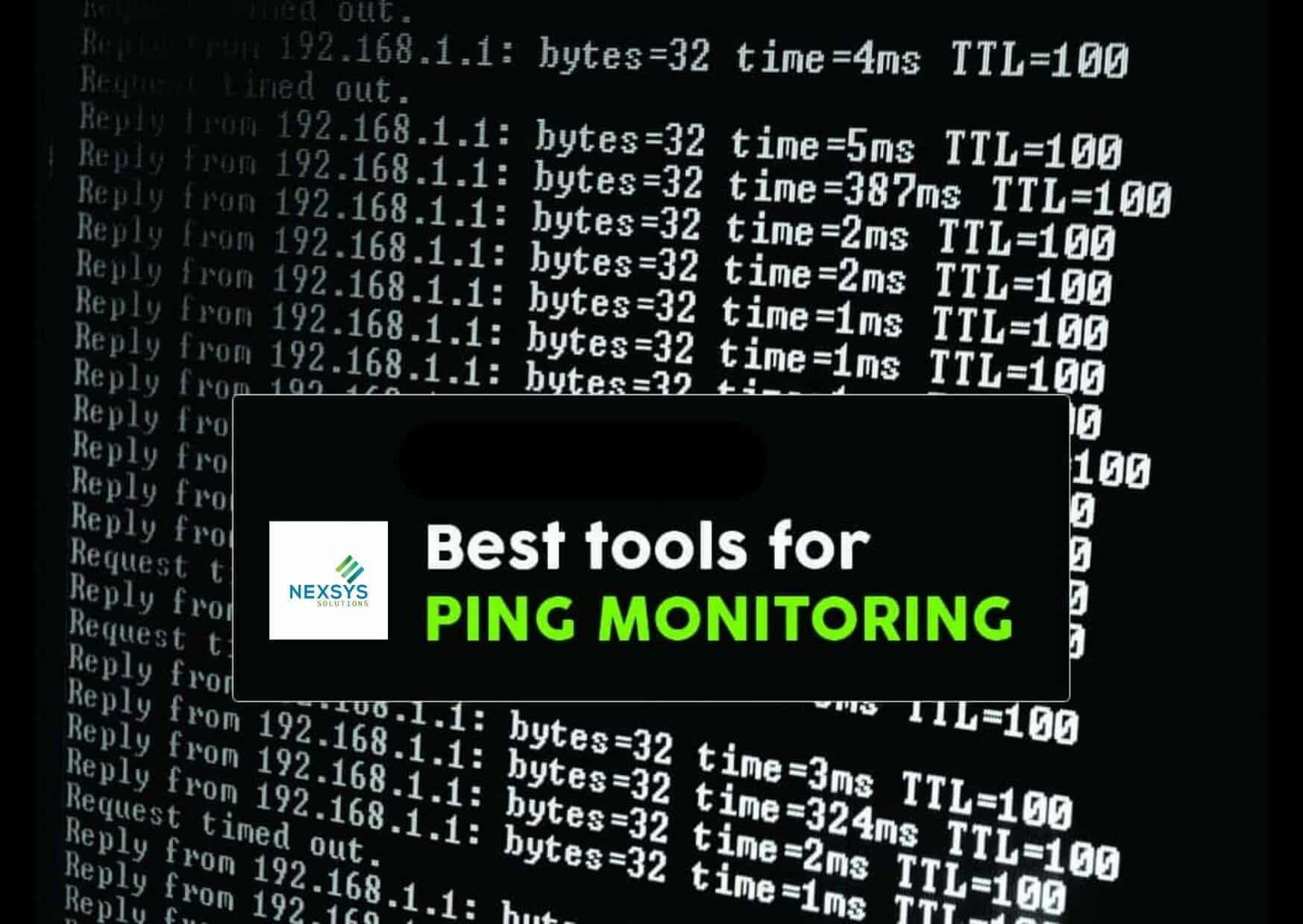 I 5 migliori tools per il PING Monitor