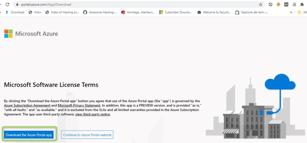 Azure portal App
