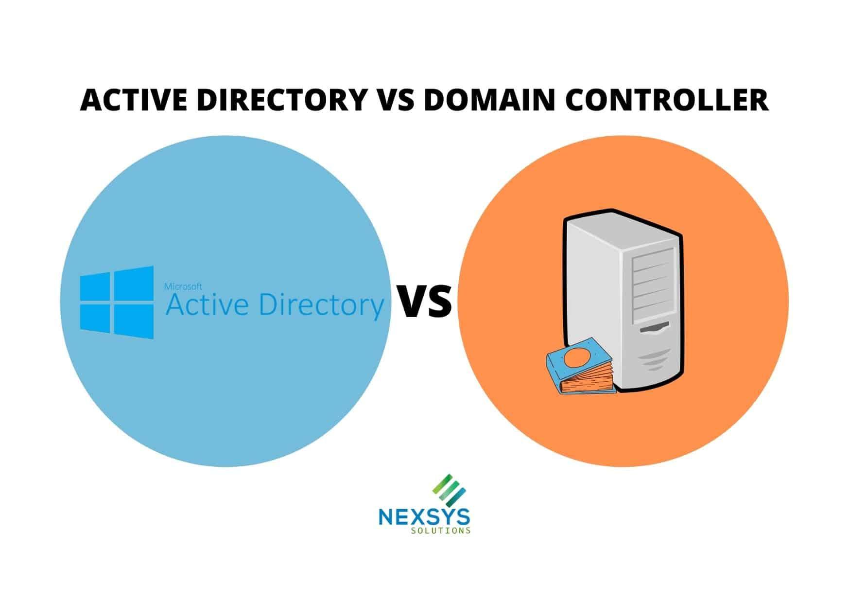 ACTIVE DIRECTORY VS DOMAIN CONTROLLER