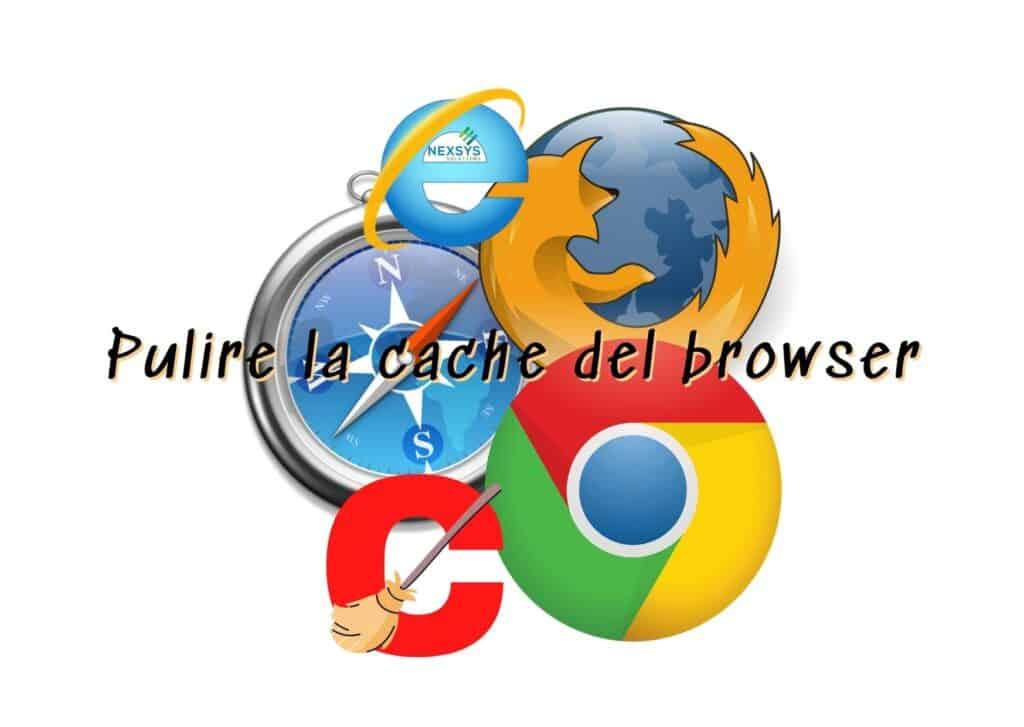 Pulire la cache del browser