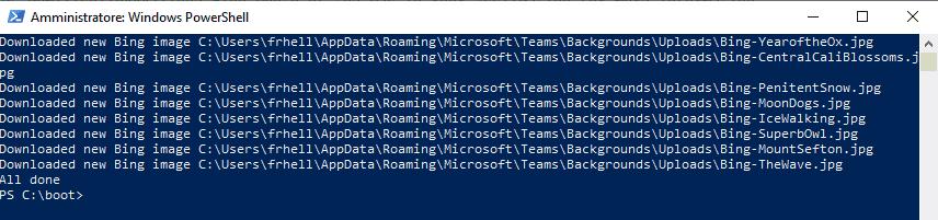 Download ing images Microsoft Teams