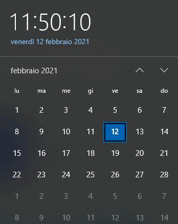 Sincronizzare orologio Windows