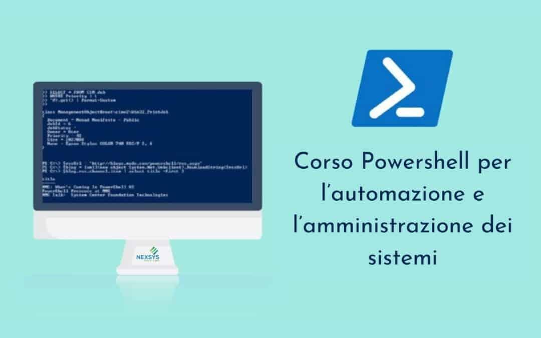 Corso PowerShell per l'automazione e l'amministrazione dei sistemi