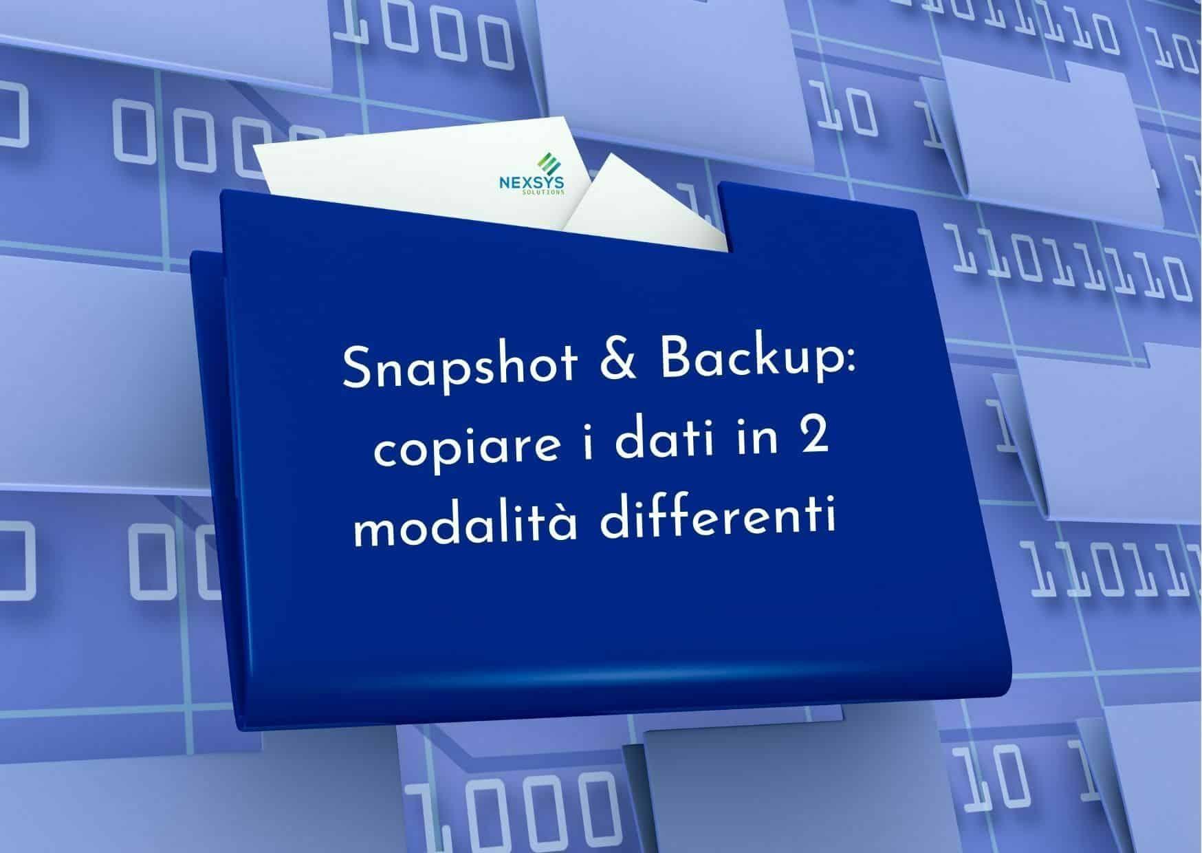 snapshot e backup