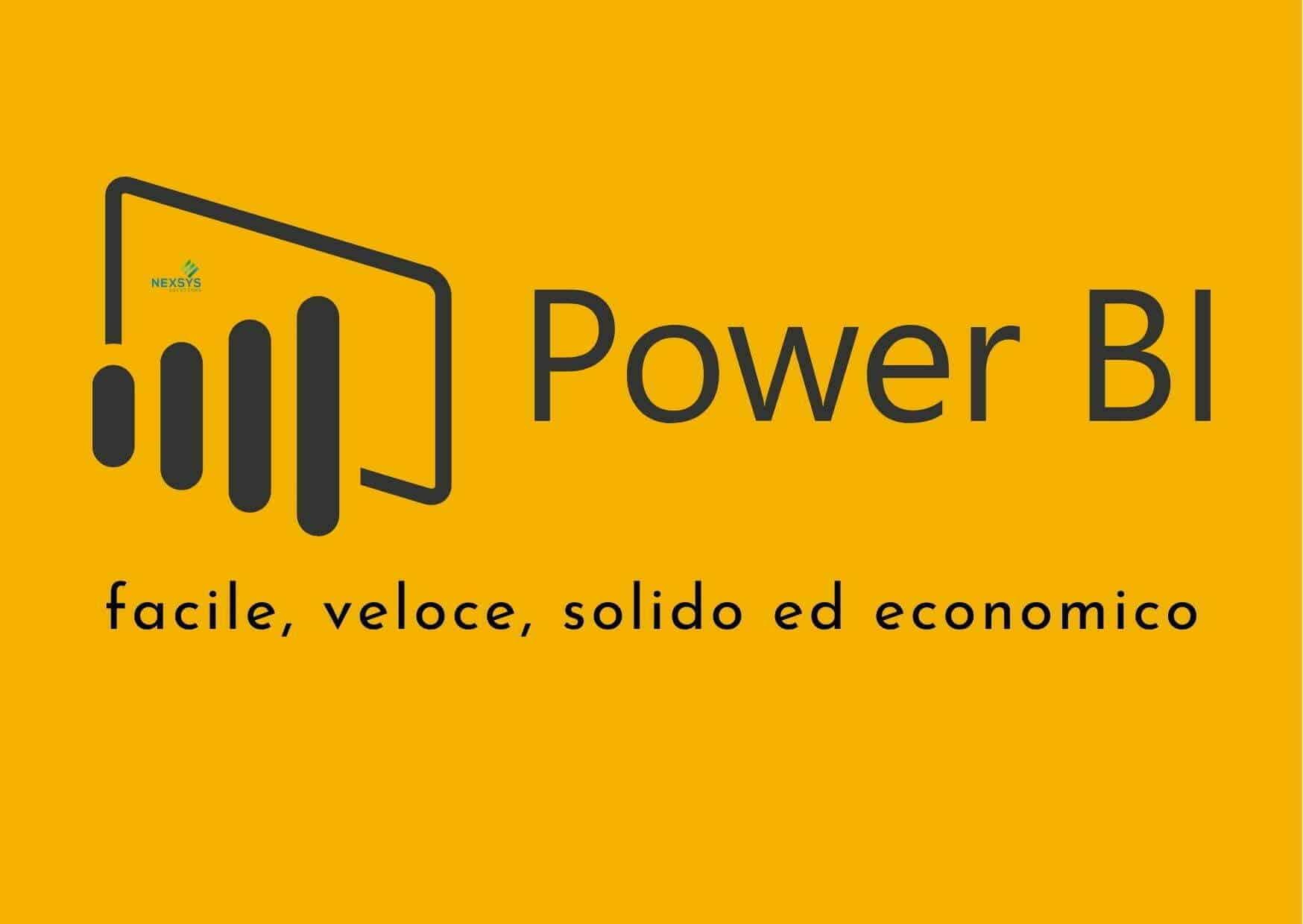 Microsoft Power BI facile, veloce, solido ed economico